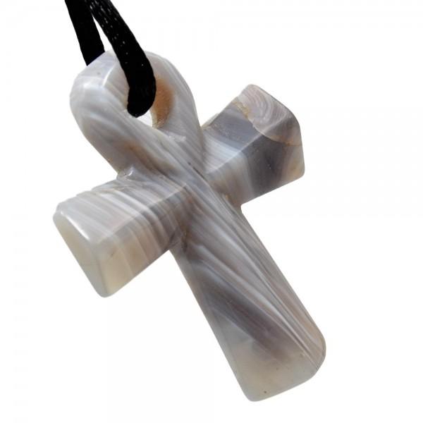 Achat Kreuz Anhänger Ank N°566
