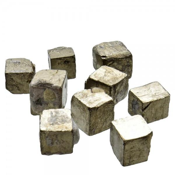 Pyrit Würfel natur 3 Stück im Set