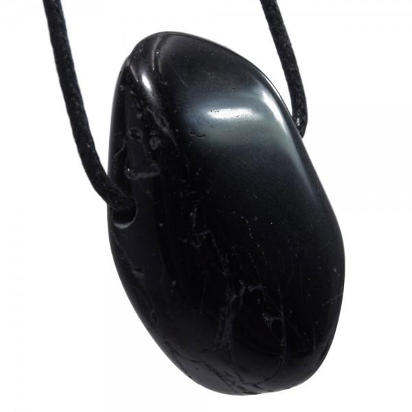 Turmalin schwarz Anhänger gebohrt N°700