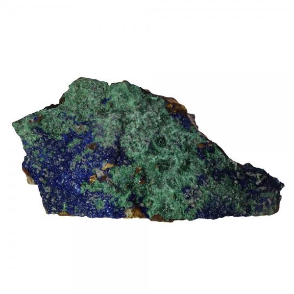 Azurit- Malachit Rohstein Kristalle auf Muttergestein Mineral