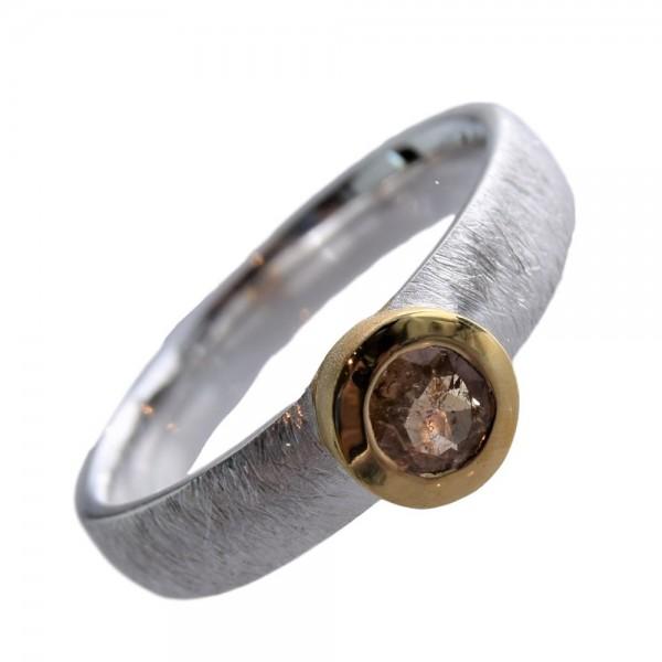 Topas Imperial Goldtopas Ring 925 Sterling Silber vergoldet Gr. 54
