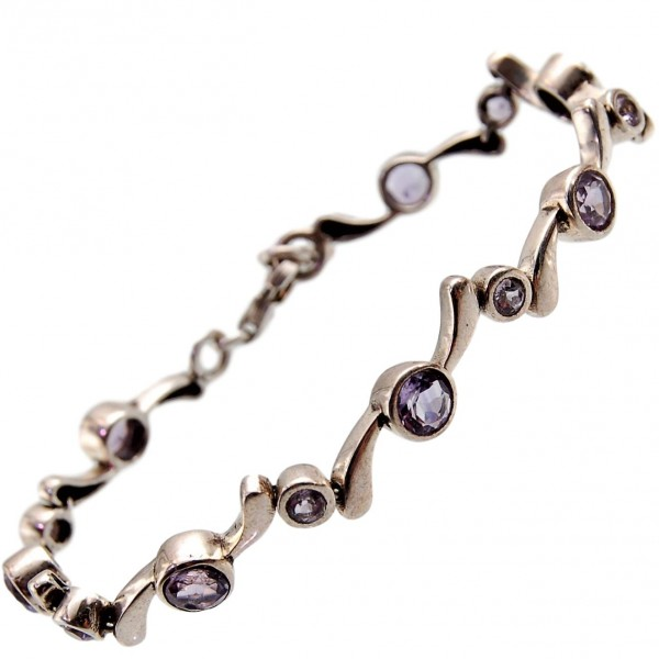 Amethyst Armband Silber elegant