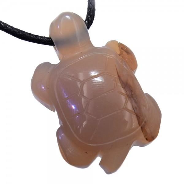 Achat Anhänger Schildkröte gebohrt am Band