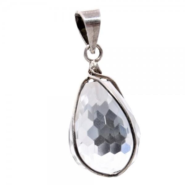 Bergkristall Anhänger Tropfen 925 Silber