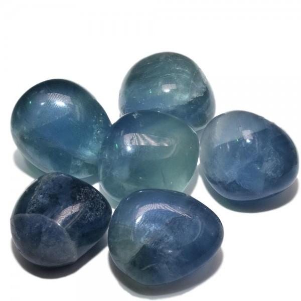 Blaue-Fluorit-Trommelsteine