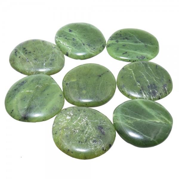 Jade Nephrit Handschmeichler XL ca. 40 bis 45 mm