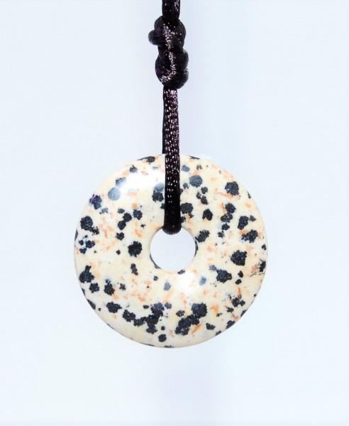 Jaspis Dalmatiner Donut Anhänger