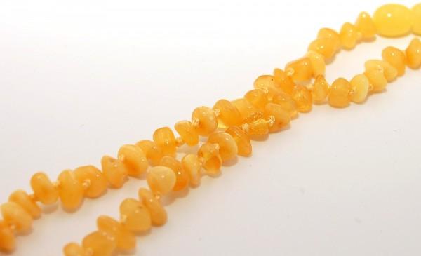 Bernstein gelb glänzend Kinderkette