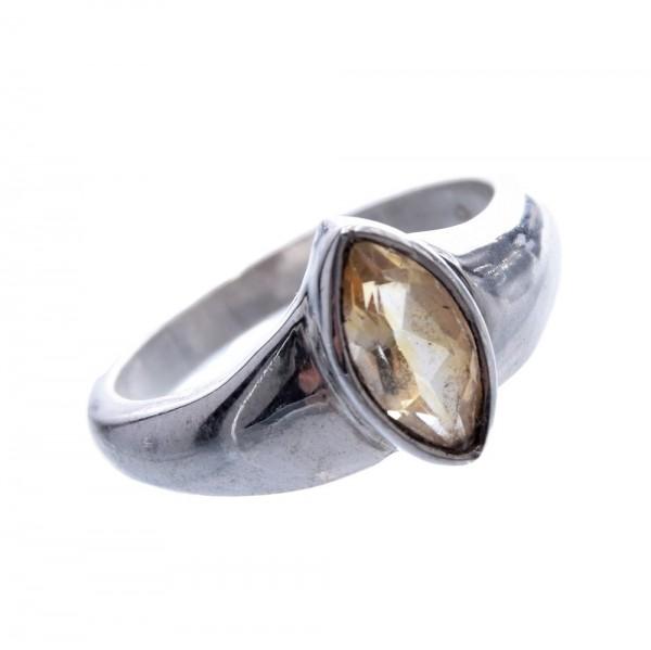 Citrin natur Ring 925 Silber Gr.58