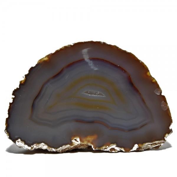Achat Geode Hälfte mit Signatur N°311