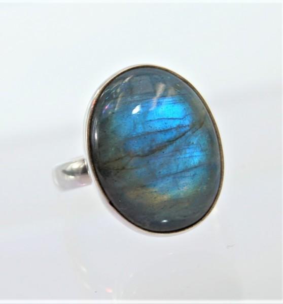 Labradorit Ring Silber Unikat Gr. 59
