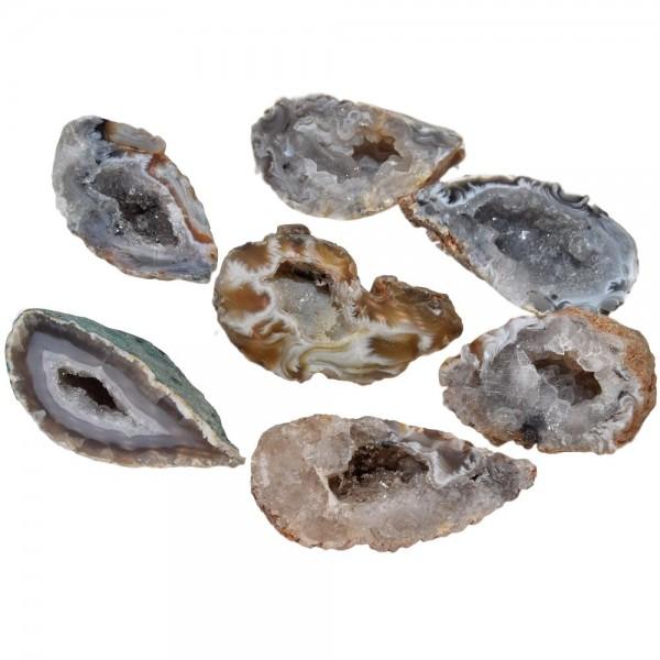 Achat Geode mit Kristallfüllung | 1 Stück Achat-Hälfte aus Brasilien