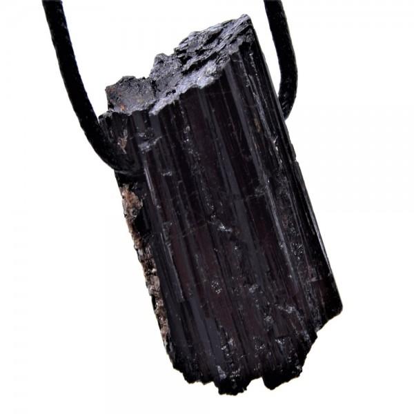 Turmalin schwarz Anhänger gebohrt N°708