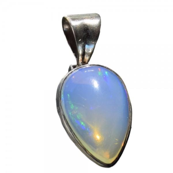 Opal Kristall-Opal Anhänger 925 Silber Unikat N°391