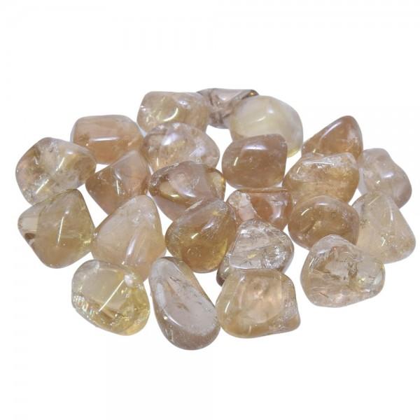 Citrin natur Trommelstein unbehandelt ca. 18 - 22 mm