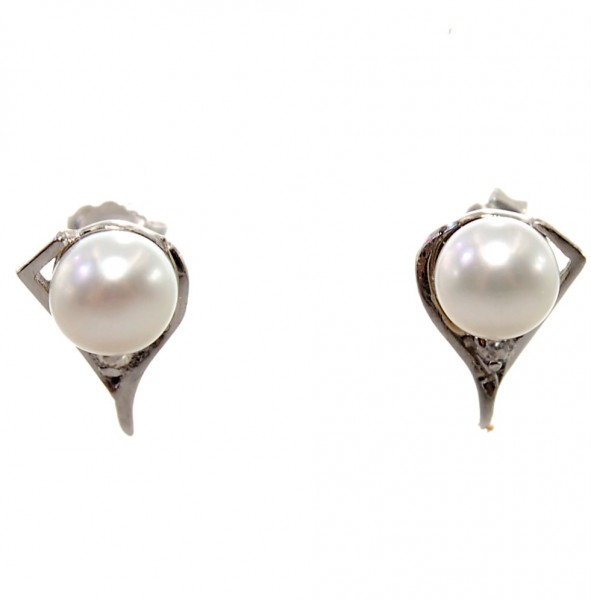 Perlen Ohrstecker 925 Sterling Silber