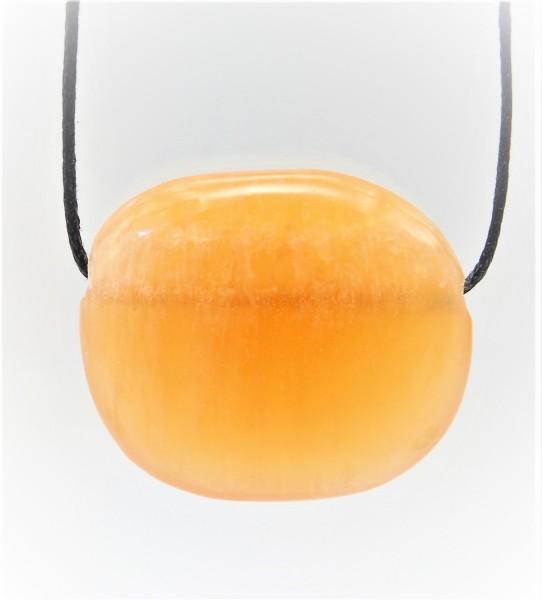 Calcit orange Anhänger gebohrt