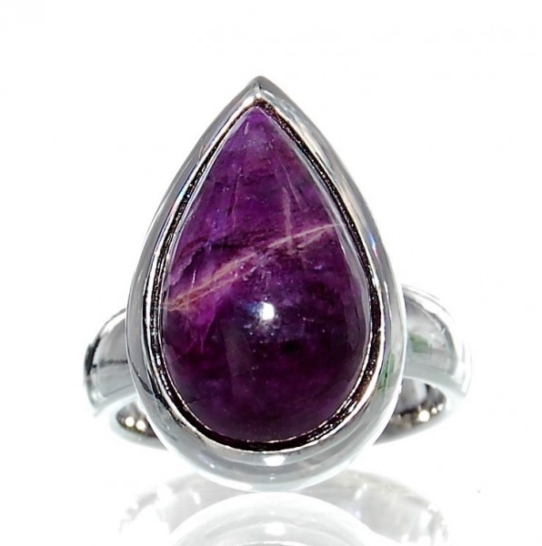 Sugilith Ring 925 Silber Design Unikat Gr. 54