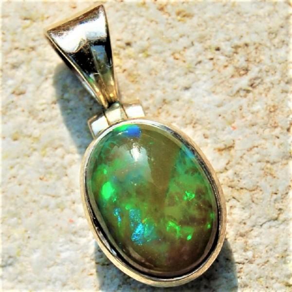 Opal Kristallopal Anhänger grün Silber Unikat N°295