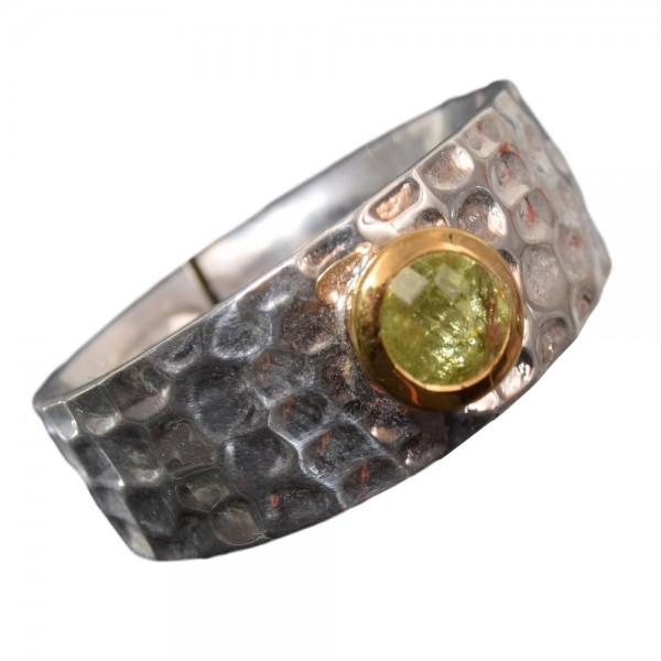 Peridot Ring 925 Silber vergoldet