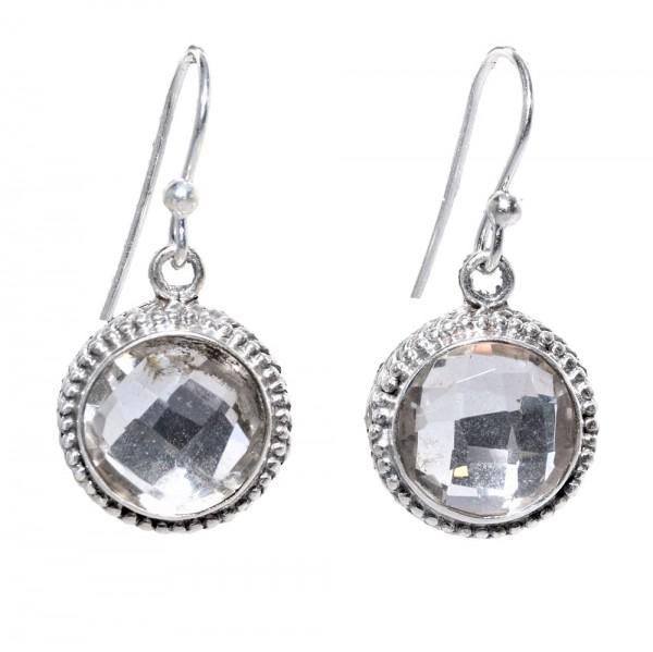 Bergkristall Ohrring Hänger 925 Sterling Silber