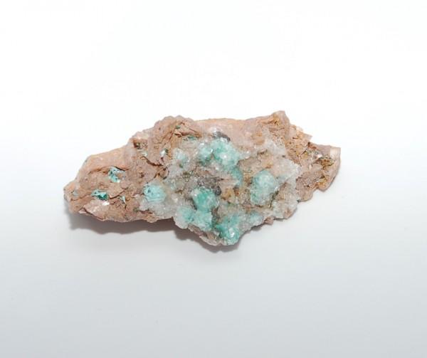 Auricalcit Mineral auf Muttergestein