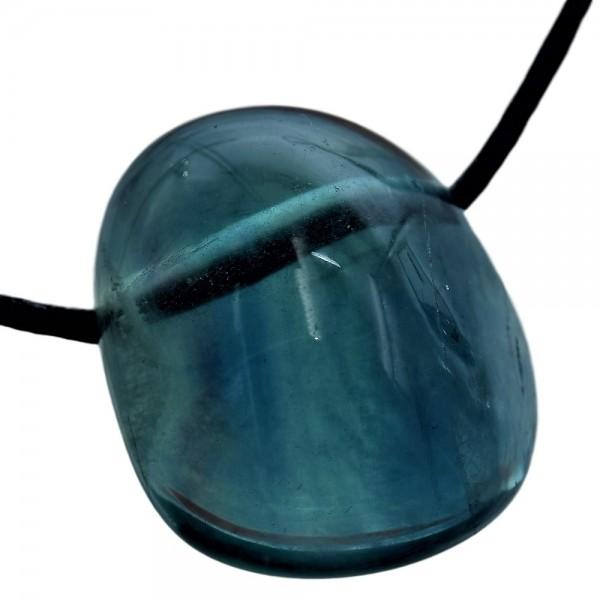 Fluorit blau Anhänger gebohrt N°617