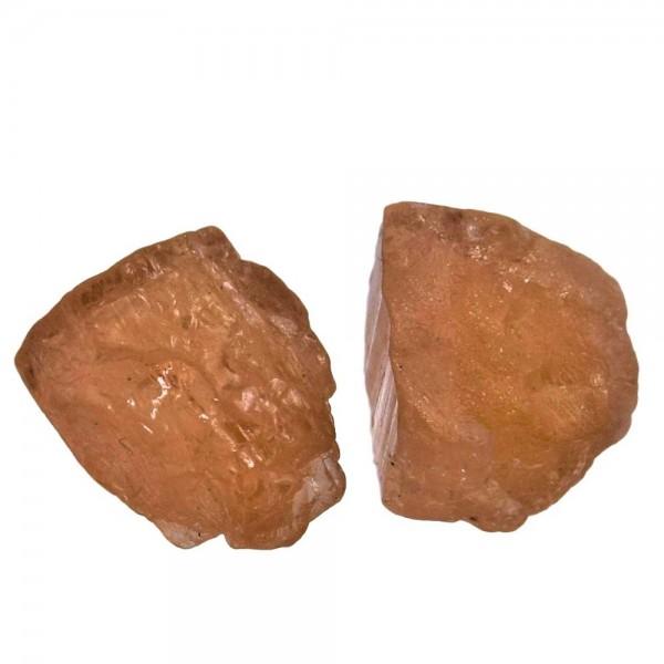 Topas Imperial Goldtopas Rohstein 1 Stück ca. 10 x 10 mm