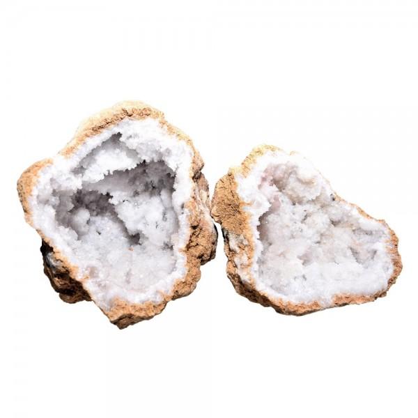Calcit Druse Geode 2 Hälften Mineral N°327