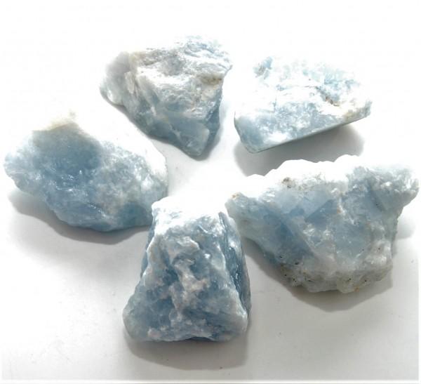Calcit blau Rohstein