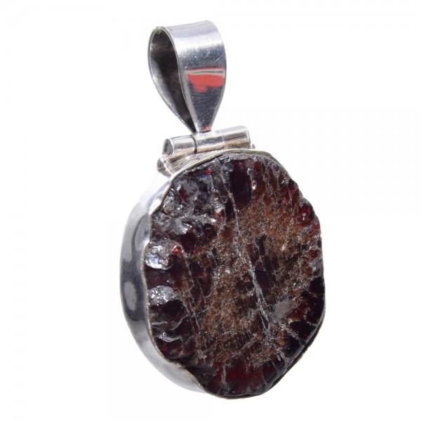 Granat Kristall Anhänger 925 Silber