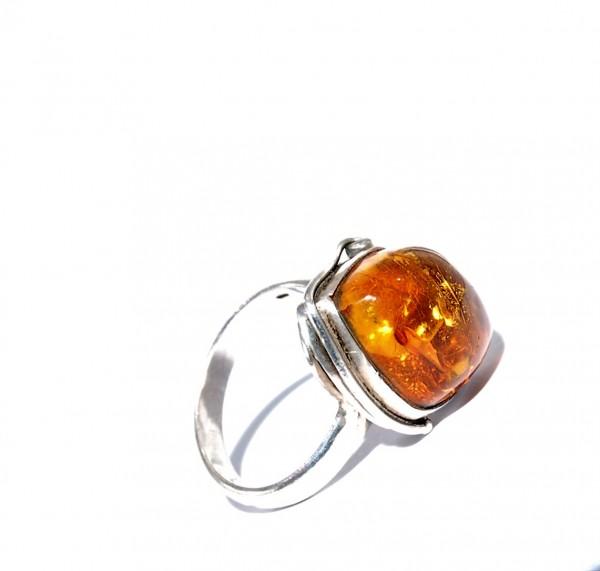 Bernstein Ring Silber Unikat Gr. 63