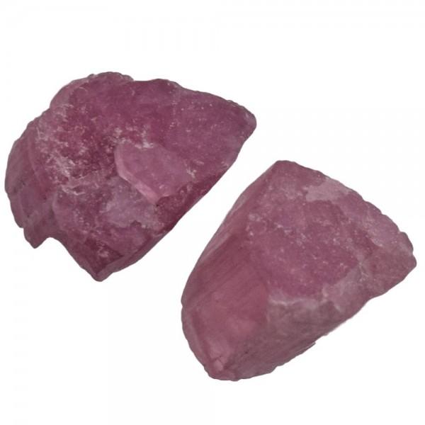 Turmalin rot pink Kristall Rohstein 1 Stück ca. 10 x 10 mm