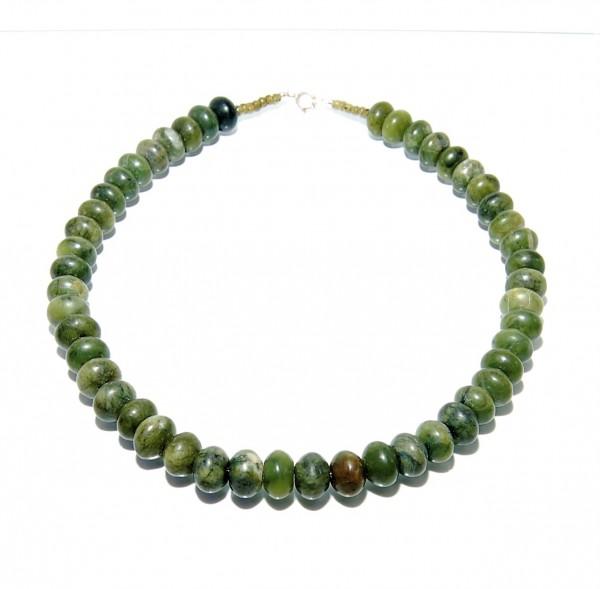 Jade Nephrit Kette 925 Silber