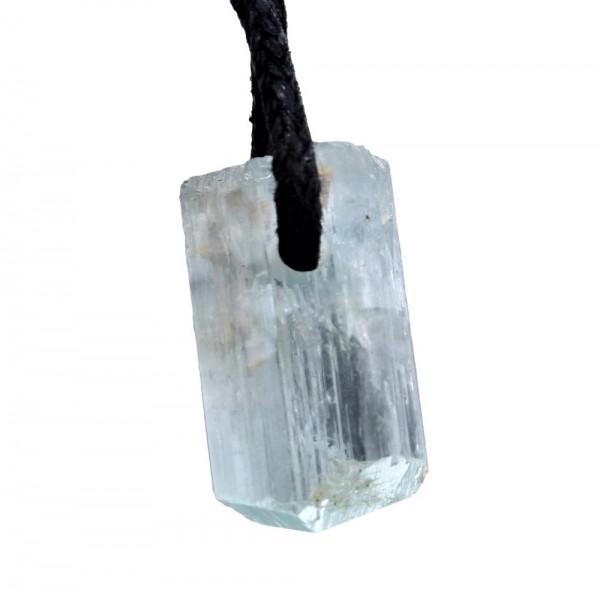 Aquamarin Kristall Anhänger gebohrt N°769