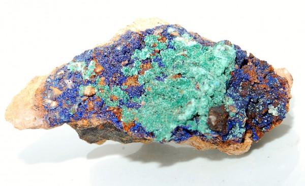 Azurit- Malachit Rohstein Kristalle auf Muttergestein Mineral N°217