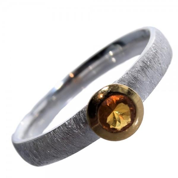 Feueropal Ring 925 Sterling Silber vergoldet Gr. 57