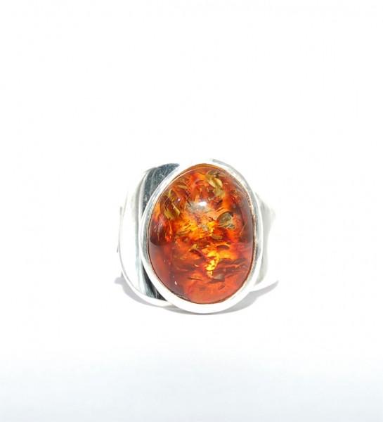 Bernstein Ring Silber Unikat Gr. 56