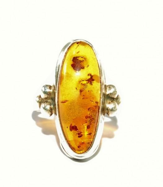 Bernstein Ring Silber Unikat Gr. 61