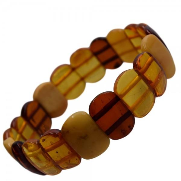 Bernstein Armband Reif multicolor dehnbar N°254
