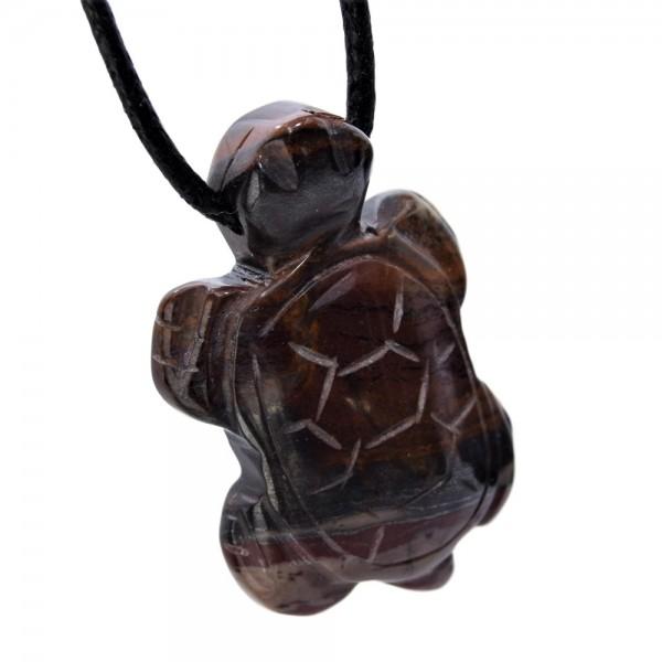 Jaspis Anhänger Schildkröte gebohrt