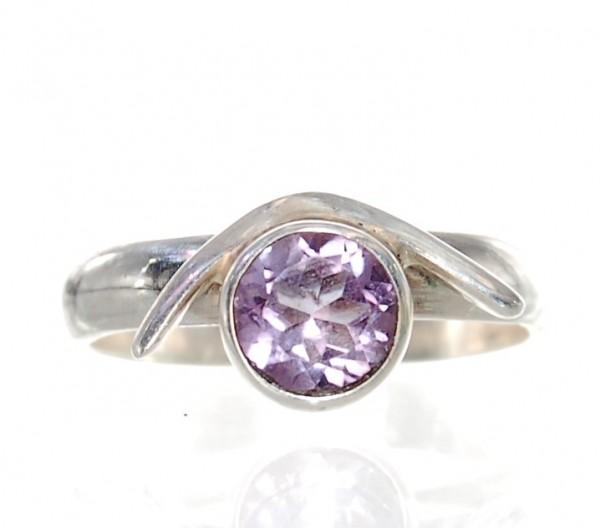 Amethyst Ring Silber Gr. 54