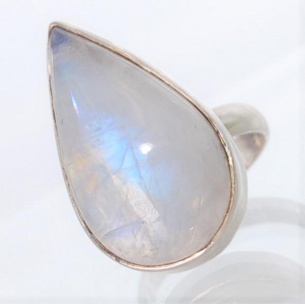 Mondstein Ring Silber Gr. 54