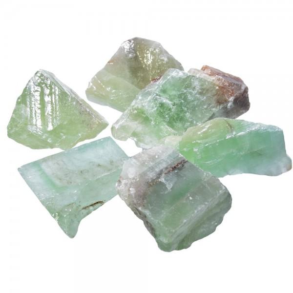 Calcit grün Kristall Rohstein ca. 40 bis 50 mm