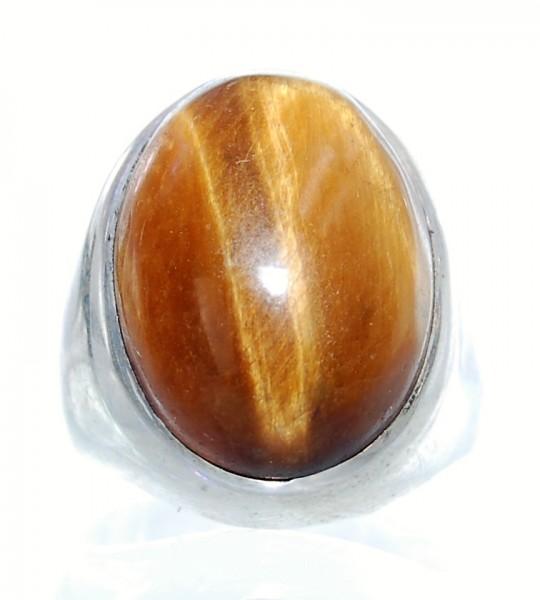 Tigerauge Ring Silber Unikat Gr. 57