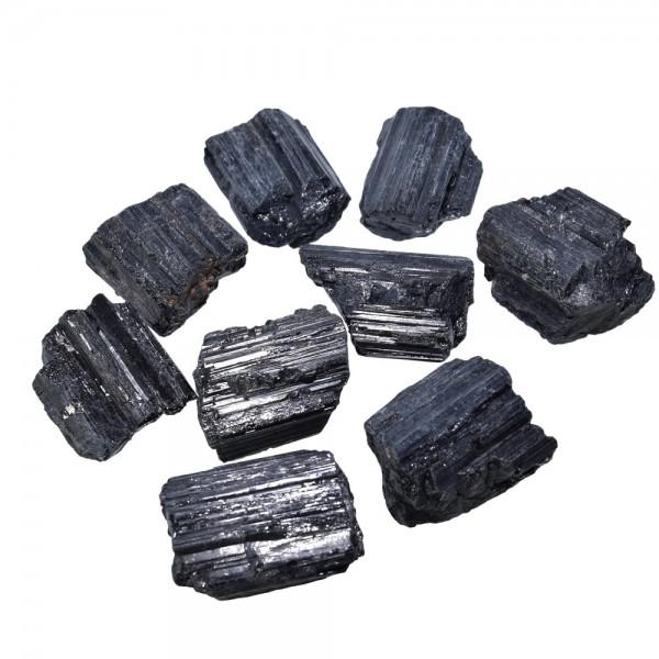 Turmalin schwarz Kristall natur klein ca. 25-30 mm