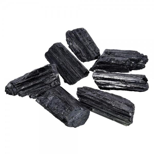 Turmalin schwarz Kristall natur 1 Stück ca. 40 mm