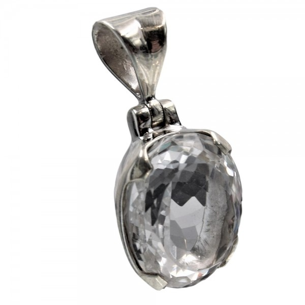 Bergkristall Anhänger 925 Silber Unikat N°386