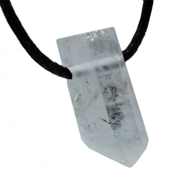 Aquamarin Kristall Anhänger gebohrt N°800