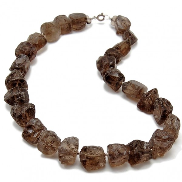 smokey quarz necklace
